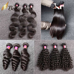 Wholesale 7A Unprocessed Brazilian Hair Bundles Brazilian Virgin HairExtensions Human Hair Weave Natural Color Body Wave Straight Loose Wave Curly
