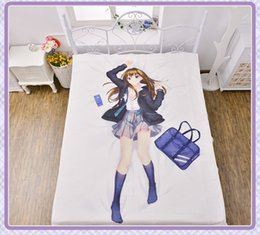 Wholesale THE IDOL MASTER Cinderella Girl Sheet Series Shibuya Air Conditioner Quilt Flannel Blanket cmx200cm High Definition Printing