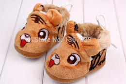 Wholesale Winter Baby Boots Animal Tiger Baby Shoes Winter Warm First Walker Colours Baby Shoes Mothercare