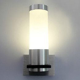 Wall Sconce Cylinder Brushed Aluminium Body Modern LED Wall Lights Lamp with 1 Light For Home Lighting