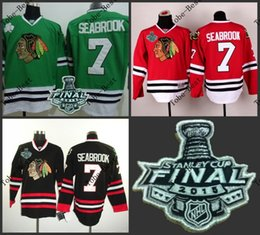 Wholesale Hot Items Chicago brent seabrook Blackhawks red black green Ice Hockey Jerseys Final Stanley Cup Patch Accept Mix order