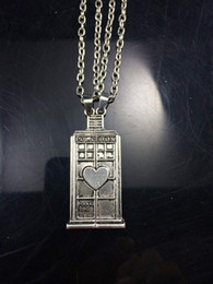 Doctor Who Couple Heart Necklace Dr. Who Police Box Pendant Dr. Tardis Couple Gifts Doctor Who Jewelry