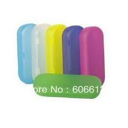 Wholesale Bright Coloured Hard Plastic Eyeglasses Spectacle Case Colorful PP Eyewear Box