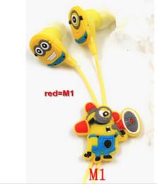 Wholesale 2016 Hot Sale Cartoon Anime Despicable Me Minions earbuds Cute Earphone mm In Ear fone de ouvido headphone for kids girls Gift