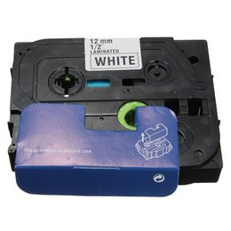 Wholesale High Quality Black on White Label Tape Compatible for Brother TZ TZe P Touch Label Printer