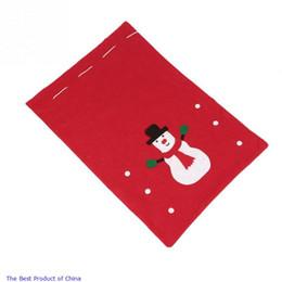 Venta al por mayor a 2015 no tejido lindo del muñeco de nieve del estilo de los granos de la venta directa de láser Caneca Nueva tela de la manera grande regalo rojo del bolso red direct bags promotion desde bolsas rojas directas proveedores
