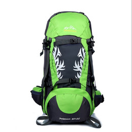 Wholesale 50L Waterproof Outdoor Hiking Trekking Camping Travel Backpack Climbing Backpack Knapsack with Rain Cover EM