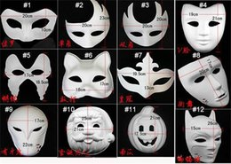 Wholesale 500pcs Best DIY Mask Hand Painted Halloween White Face Mask Zorro Crown Butterfly Blank Paper Mask Masquerade Party Cosplay Mask