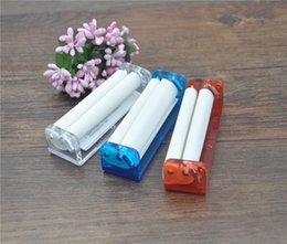 Wholesale 78mm Easy Manual Tobacco Roller Hand Cigarette Maker Rolling Machine Tool rolling paper hand muller metal smoking pipe injectors supplier