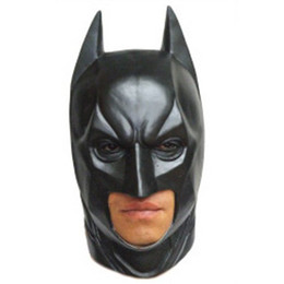 Wholesale 100pcs Latex Scary mask Costume Halloween Deluxe Batman Party masks