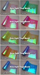 Wholesale 10 Rolls Colors Rainbow Effect Car Light Chameleon Headlight Film Taillight Tint Film Vinyl Color Change Size M