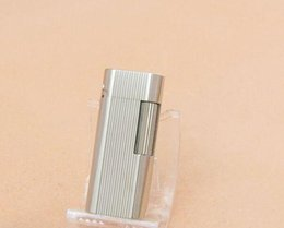 Package mail sent flint lighter silver wire drawing gas lighters