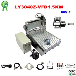 Wholesale CNC engraving machine LY3040Z VFD1 KW axis cnc router with big power spindle motor and the th axis