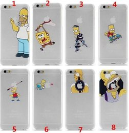 Wholesale For iPhone s plus case the homer simpson simpsons Frosted transparent the Simpson eat APPLE case cover designs available