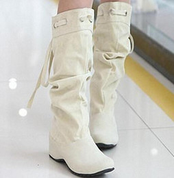 Free Shipping 4 Color Half Boots Women Lady Boot Winter Footwear Wedge Shoes Fashion Sexy Snow Warm EUR Size 34-43