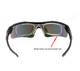 Wholesale-New Fashion Sports Cycling Sun Glasses Polarized Hiking Eyewear Men Sunglasses Outdoor Sport glasses + 5 Lens