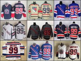 Wholesale Cheap New York Rangers Jersey Wayne Gretzky Jersey Blue White NY Rangers ice Hockey Jerseys China
