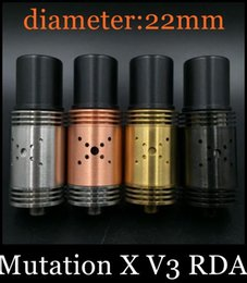 Mutation X V3 RDA atomizer ebuildable Atomizer Mutilator Tank 22mm 9 Holes Control Airflow Indulgence Mutation x V3 Atomizer atb050