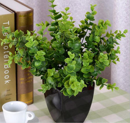 5 Bundles Artificial Eucalyptus grass Branch Leaf-shaped For Home Wedding Garden Decoration