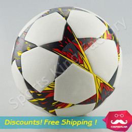 Wholesale Profession European Soccer ball New particles th football ball game Soccer seamless PU leather High quality flame football game