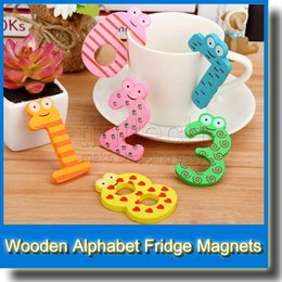 Wholesale Cute Numbers Wooden Fridge Magnetic Animal Sticker Figure Toy Learning Toys Best Selling Item