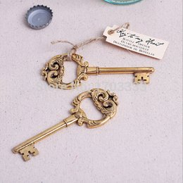 Wholesale 100pcs Magnificently Key Design Wine Bottle Opener Antique Bottle Opener Wedding Favors and Gifts