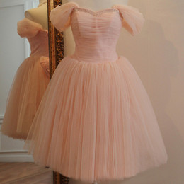 Pink Tulle Knee Length 2015 Bridesmaid Dresses with Pleats Sweetheart Beaded Wedding Party Dresses Bridesmaids Gowns with Bow TS005