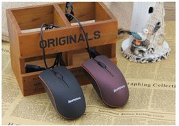 new Wholesale Lenovo M20 mouse mini Wired 3D Scrub Optical USB Mouse For Computer Laptop DPI 1000 Free shipping