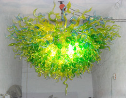 100% Mouth Blown CE UL Borosilicate Murano Glass Dale Chihuly Art Hotel Restaurant Glass Chandelier Lamp