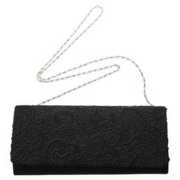 Wholesale-Hot Selling Evening Bag Women Handbag Chain Clutches Shoulder Bags Lady Messenger Coin Purse Bag Hollow Out Lace Black White