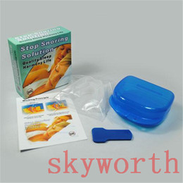 Wholesale ANTI SNORE Stop Snoring Mouthpiece Snore Soft Silicon Anti Snore Sleeping Aid Prevents Grinding of Teeth Kit