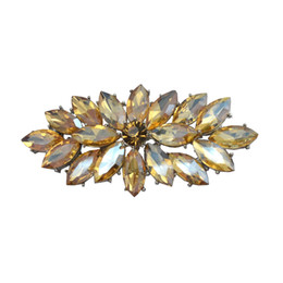 Vintage Rhodium Silver Plated Champagne Glass Marquise Crystal Diamante Brooch Prom Party Pin Gifts Free Shipping
