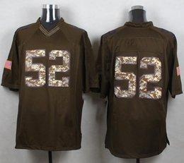 Promotion services de l'équipe 32 Équipes-salut en gros au service des hommes en gros OU # 52 mack salut vert au service limité Maillots de Football Jerseys