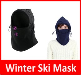 2016 THICKER Layer Warm Full Face Cover Black Thermal Balaclava Hood Outdoor Swat Ski Winter Windproof Face Mask Hat Sport Mask