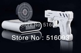 Wholesale New Novelty Gadget Funny LCD Gun Alarm Clock with Target Panel Shooting Game Toy