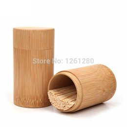 Wholesale bamboo Toothpick Holder Table Decoration part craft Tea Caddy living room wooden creative fashion home Storage Box