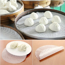 Wholesale Silicone steamer sticky mat silicone mat round dumplings steamed buns steamer cloth pad Steamer pad