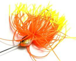 Spinner приманки головы Онлайн-Комбинированные вращающиеся блестки Приманки для приманки с приманкой Рыбная ловля Направляющие для спиннеров Приманки Металлическая приманка Басс-шумиха ложка Ловушка для рыбалки