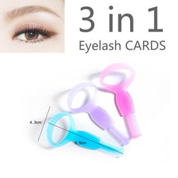 Wholesale Magic Beauty Triple Eyelashe Card Curler Makeup Brush Mascara Tools Eyelash Cosmetic Tool