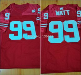 Factory Outlet- #99 J.J Watt,Wisconsin Badgers NCAA College Football Jerseys,2015 New Style Cheap Stitched Jersey,Embroidery logos.Free Ship