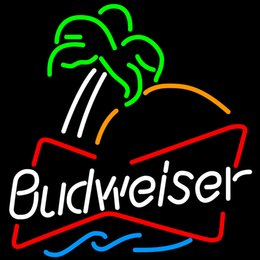 New Budweiser Glass Neon Sign Light Beer Bar Pub Sign Arts Crafts Gifts Lighting Size: 22""