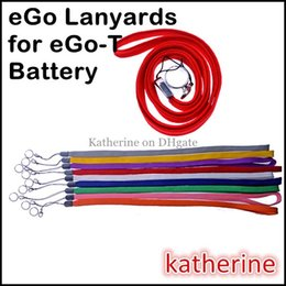 eGo-T Lanyards String Necklace Rings for E Cigarette E Cig eGo-T eGo Q W F C Battery Kits Various Colors Good Quality Mixed Colors Available