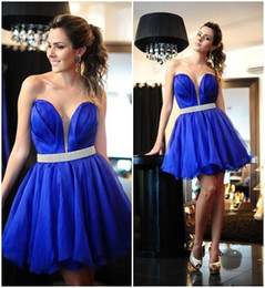 Royal Blue Chiffon Cocktail Dress Party Sweetheart A Line Sexy Sparking Short Prom Gowns 2015 Vestidos De Festa Homecoming Gowns