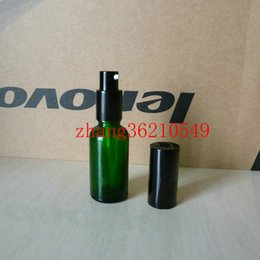 30ml green Glass lotion Bottle With aluminum shiny black pump.for lotion and essential oil. lotion cream container