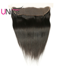 UNice Hair Malaysian Straight Lace Frontal Ear to Ear 13x4 Free Part Lace Closure 1 Piece Unprocessed Human Hair 10-20inch
