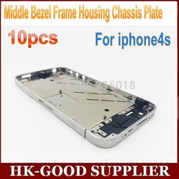 Wholesale For iphone4s Middle Bezel Frame Aluminum Housing Chassis Plate freeshipping