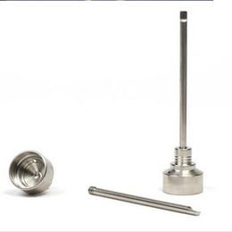 Wholesale G2 Titanium Carb Cap Tool Domeless Titanium Nail TitaniumTi Nail mm mm mm Titanium Dab Tool with Carb Cap Dabber Grade