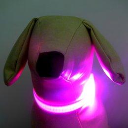 Wholesale 8 Colors LED Flashing Dog Collar LED Pet Collar Necklace Cat Collar Hot Sale Fashion Pet Decor Via DHL