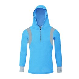 Wholesale Outdoor fishing sun protective clothing Bamboo charcoal uv long sleeve hooded clothes Male quick drying breathable garments