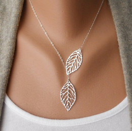 Fashion Jewelry Vintage Bohemian Necklace Leaves Multi Layer Necklace Gold Silver Bohemia Charm Long Necklace Chain Wedding jewelry
